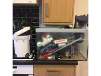 Fish tank, protein skimmer, filter for sale