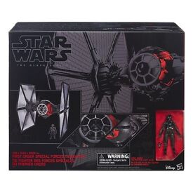 STAR WARS 6'' INCH BLACK SERIES THE FORCE AWAKENS ELITE FORCES TIE FIGHTER SHIP & PILOT FIGURE £85