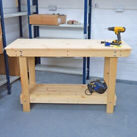 Workbench Wooden | Solid Sturdy & Strong! | Various Sizes Available | Also bespoke