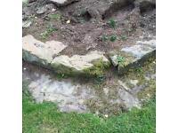 Rockery Pond/ grass verge large stones