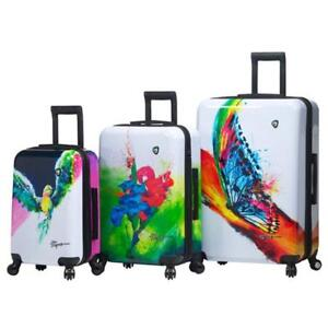 Mia Toro ITALY Prado-Exotic Life Hardside Spinner Luggage 3 Piece Set