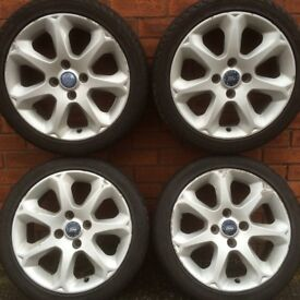 Ford Fiesta 16 inch alloy wheels & tyres suit Mk1 Focus , Ka & Escort van stud 4x108mm