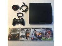 Playstation 3 PS3 Slim 250GB Console With Games & Accessories