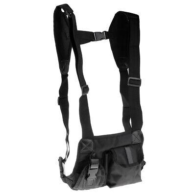 Universal Hands Free Walkie Talkie Radio Holder Vest Chest Harness Bag