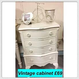 Vintage , shabby chic painted furniture