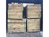 Pressure Treated Wooden/ Timber Feather Edge Fencing Pieces/ Panels/ Boards 🌲