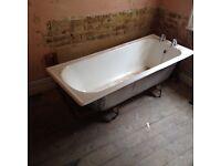 Free furniture cast iron bath