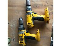 Two faulty 18v dewalt drills