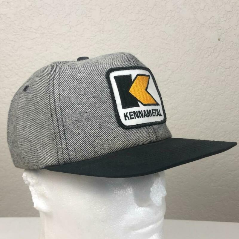 VINTAGE K PRODUCTS KENNAMETAL TWILL SNAPBACK TRUCKER HAT USA PATCH