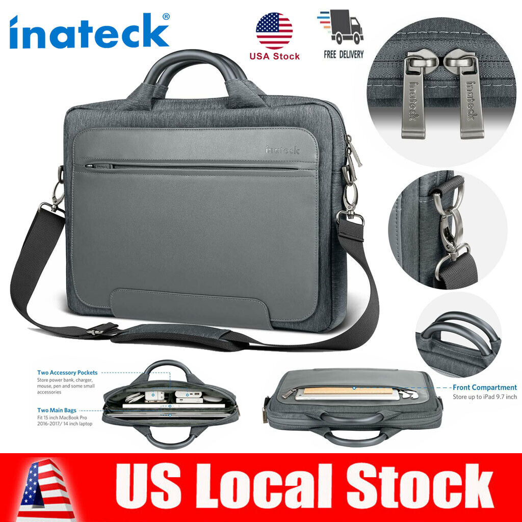 Inateck 14 inch Water Resistant Laptop Bag PU Leather Messen