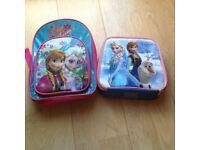 Disney frozen rucksack and lunch bag
