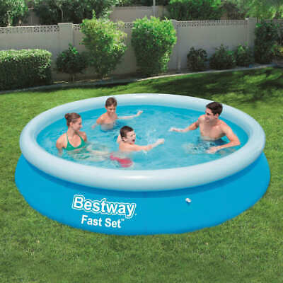 Bestway Fast Set Inflatable Swimming Pool Round 366x76cm Summer Water Centre