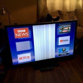 47 inch smart lcd tv spare or repair