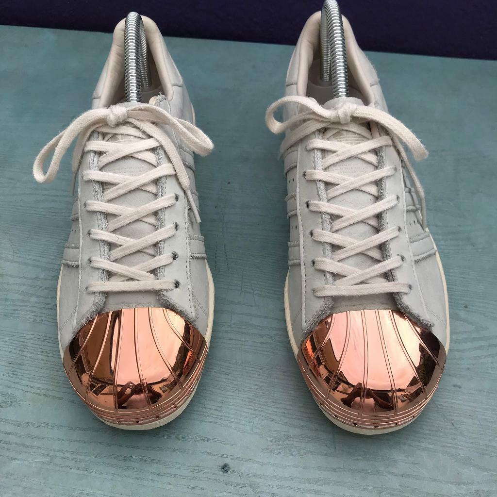 sports shoes d2ed4 7b027 Adidas metal toe trainers size 6
