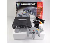Nintendo 64 Launch Version Charcoal Gray Console N64 Boxed Complete New