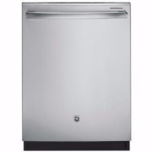 Lave-vaisselle GE encastré, à vapeur,  cuve en acier inoxydable , grande capacité, 48 dBA,en stainless (SKU: 1221)