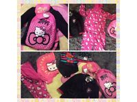 Hello kitty 8piece Bundle.Including Swim costume,Cap onesie&More.....