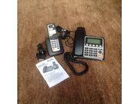 Binatone Combo 3525 Twin Corded & Dect, Answerphone & Name/Number Memory