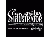 Sign Writer / Ilustrator / Chalkboards & Blackboards / Mural Artist - FOR HIRE
