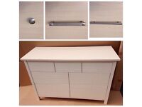 Maple 7 Drawer Sideboard Chest, W128 x D49 x H85cm, ASSEMBLED new