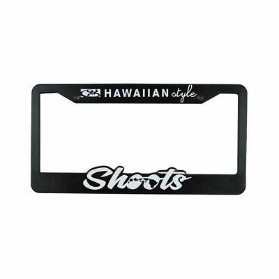 Local Motion Hawaii License Plate Frame Black Aloha HI Palm Tree Set of 2 NEW
