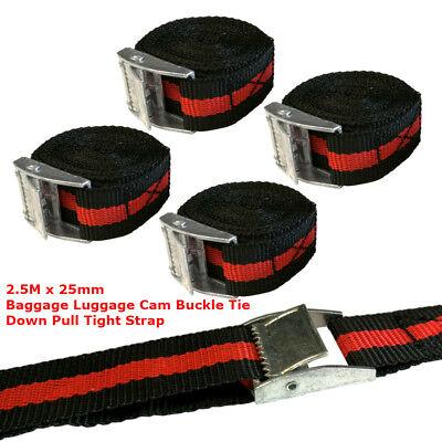 25mm X2.5M Schnalle Tie Downs Riemen Dachgepäckträger Gepäck Fracht (Dachgepäckträger Riemen)