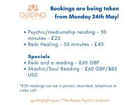 Psychic/medium readings and reiki