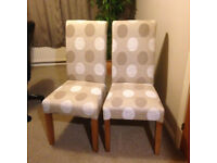 Pair of Oak Framed Upholstered Chairs