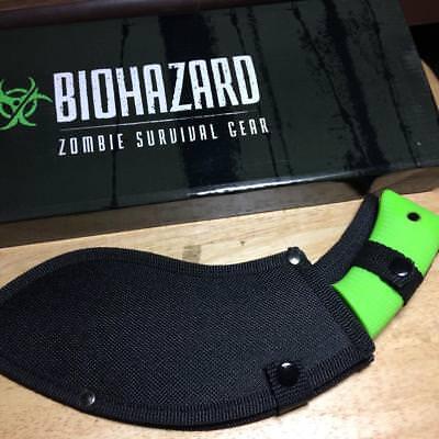 "Frost Biohazard Zombie Survival Gear BIO STUB 12"" NPZ with Sheath H1312"