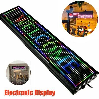 Rgb App Wifi Led Scroll Sign Programmable Scrolling Message Display Board 408