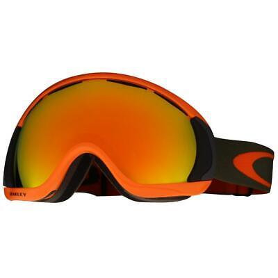 Oakley OO 7047-10 Canopy Herb Orange w/ Fire Iridium Lens Snow Ski Goggles .