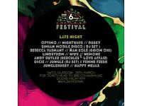 2 x tickets for 6 music festival late night at SWG3 (optimo/dusky/Hercules and love affair etc)