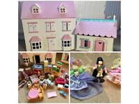Dolls Houses, furniture and dolls