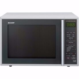 New Sharp R959SLMAA 40L Combination Microwave Oven Silver / Black Was: £220