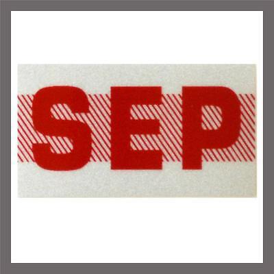 September Month California DMV License Plate Red Registration Sticker Tag YOM CA