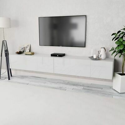 vidaXL 2x Tv-Meubel Spaanplaat Hoogglans Wit Televisie Kast Hifi Kasten Houder tweedehands  Nederland