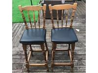 X2 bar stools excellent condition ideal for man cave