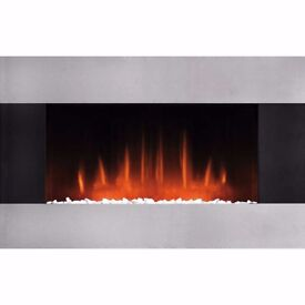 Burley 503-R Glaston Pebble Bed Electric Fire with Remote Control Black / SS (Brand New)