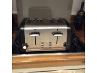 Cookworks Signature 4 slice toaster - Stainless steel - only used a couple of months