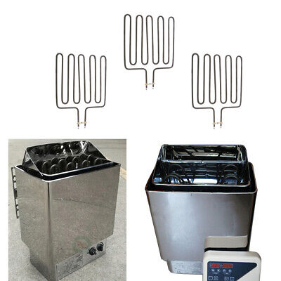 3Pc 3kW Wet Dry Sauna Heater Certified Stove for Spa Sauna Room Stainless Steel