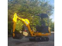 Man and Mini digger hire 1.5 tonne