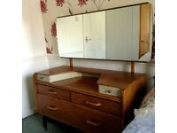 G Plan Bedroom Set. Dressing Table, Chest of Draws, Cupboard. E Gomme High Wycombe. Vintage. Retro.