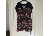 Ladies Black Floral Dress *New with tags*
