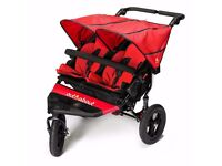 Out n About Nipper 360 V4 Double, with raincover, UV cover, footmuffs and basket