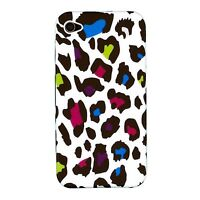 Rainbow Leopard Case + Screen Protector for iPhone 4/4S
