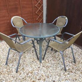 Table & 4 Chairs Outdoor Set