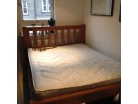King size double bed wooden frame