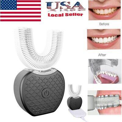 स्वत: 360 ° इलेक्ट्रिक सोनिक टूथब्रश दांत ब्रश ओरल केयर क्लीनर व्हाइटनिंग
