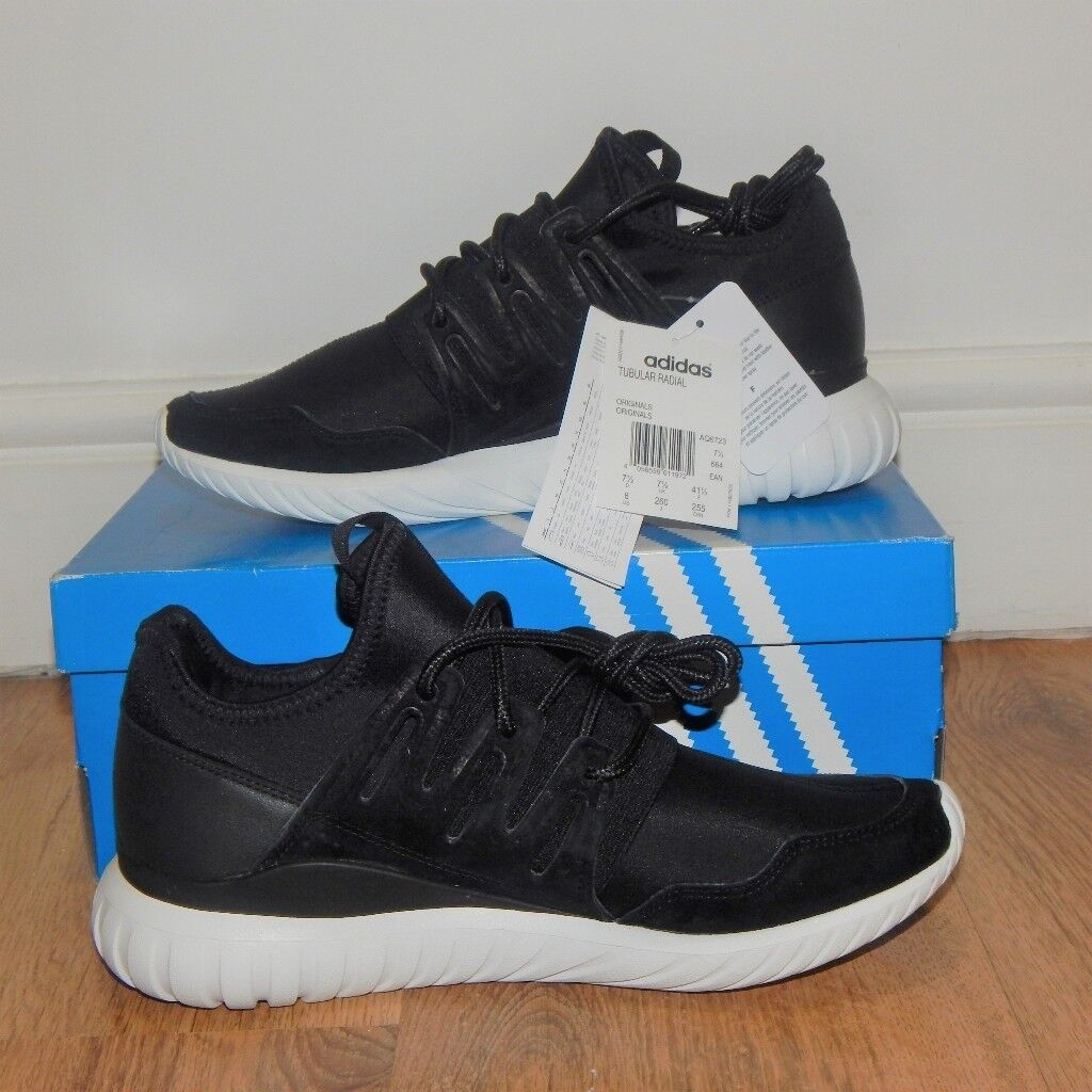 257c716eee4a Genuine Brand NEW Adidas Tubular Radial MEN Black - UK 7.5   UK 9