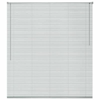 vidaXL Persiana de Aluminio PVC 120x160cm Plateada Veneciana Cortinas Accesorios